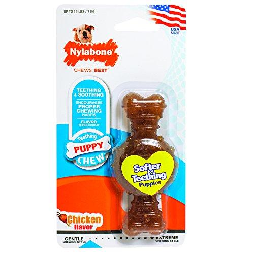 Nylabone Puppy Chew Freezer Dog Toy, Lamb & Apple Flavor