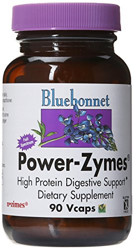 BlueBonnet Power-Zymes Vegetarian Capsules, 90 Count (Blue Power)