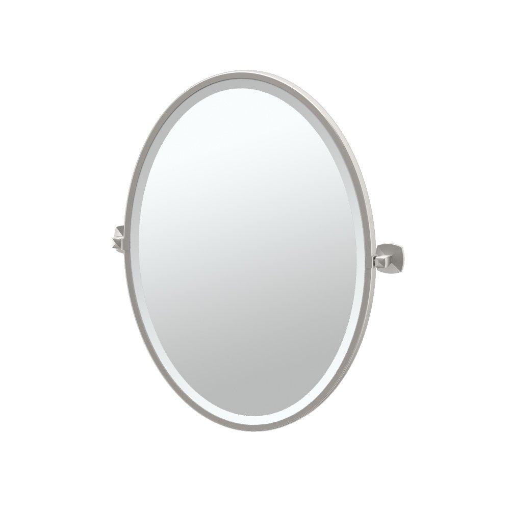Gatco 4159F Jewel Framed Oval Mirror, Satin