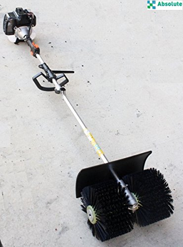 GAS POWER HAND HELD CLEANING SWEEPER BROOM DRIVEWAY TURF ARTIFICIAL ()