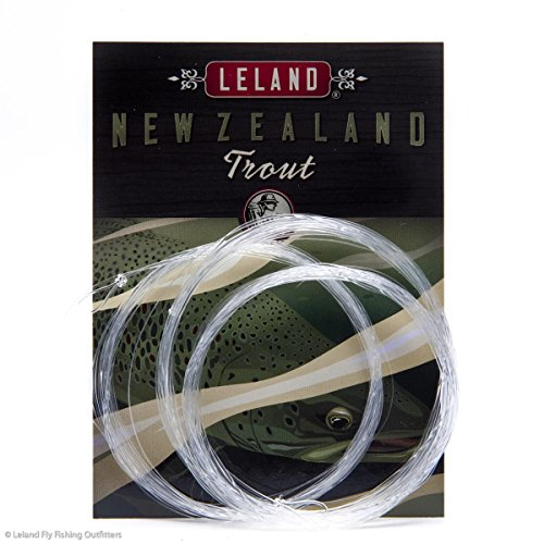 Leland Rod Company New Zealand Trout Fly Fishing Leader 12' 4x (6 Pack) The best leader on the market.