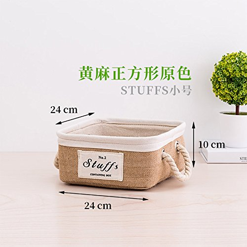 O CUPWENH Fabric Storage Basket, Clothing Storage Basket, Desktop Storage Box, Portable Snack Finishing Box,J