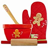 STEPHEN JOSEPH Chistmas Quilted Cook Set - Gingerbread