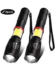 AOMEES USB wiederaufladbare Taschenlampe (einschließlich 18650 Batterie) Taschenlampe, superhelle Taschenlampe