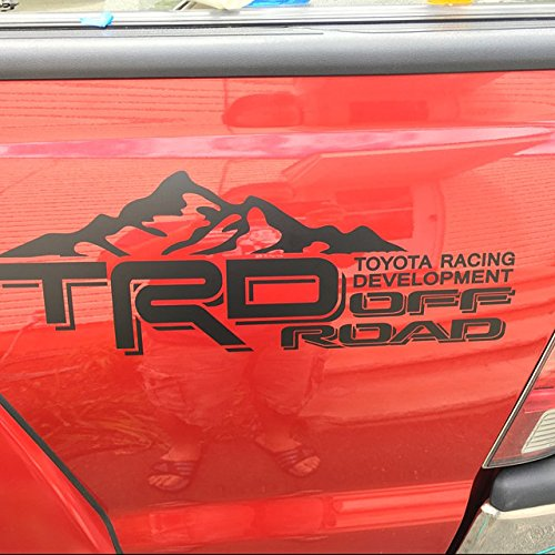 Toyota Tundra Tacoma Truck Body side bed Decal, x2 Matte Black Vinyl Stickers