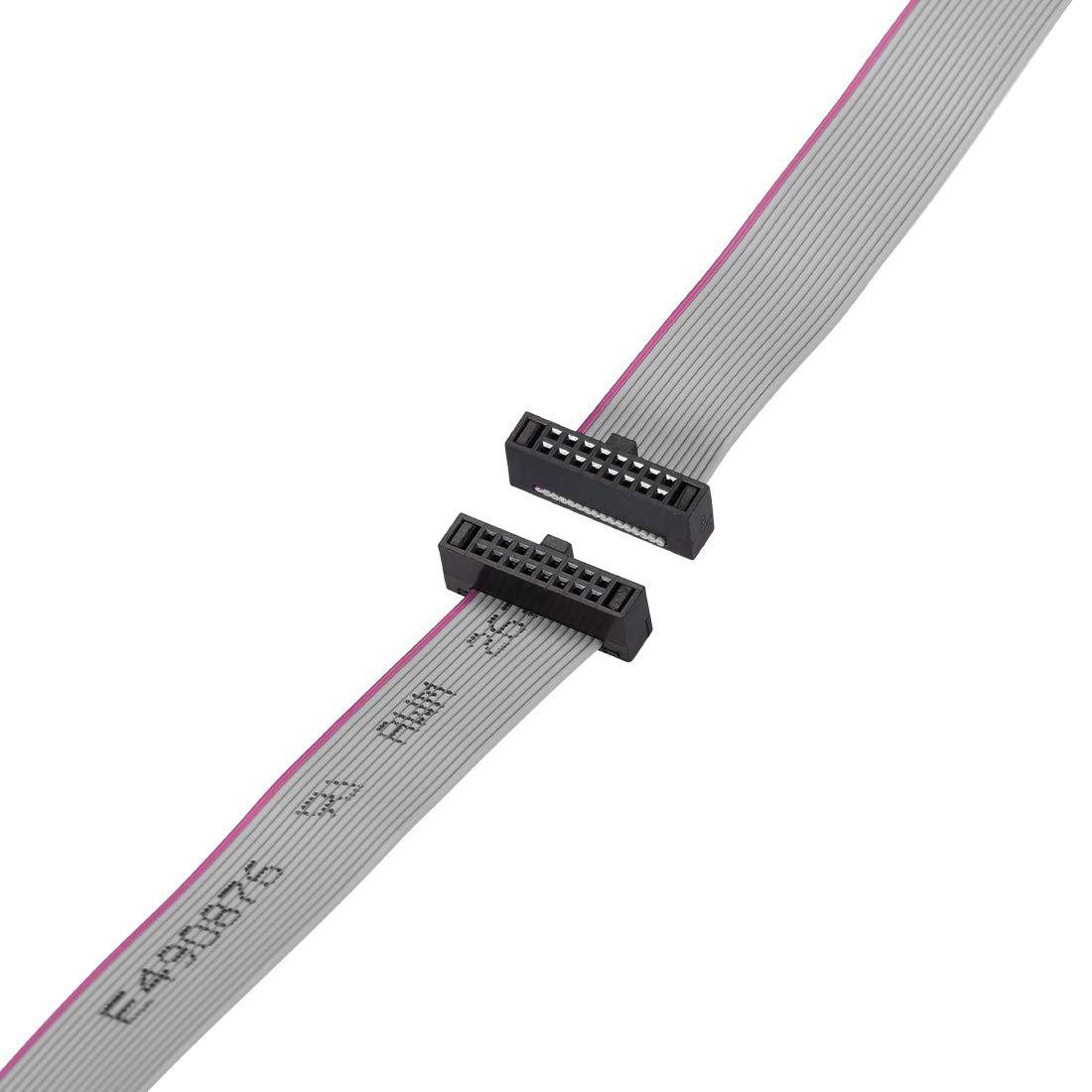 sourcing map Fil Plat C/âble Ruban FC//FC Connecteur Femelles 20Broches 1.27mm Pas 20cm Longue