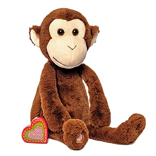 My Baby's Heartbeat Bear - Vintage Monkey Stuffed Animal with 20 Second Voice/Sound Recorder Keeps Your Baby's Ultrasound Heartbeat Safe! - Vintage - Monkey Vintage Stuffed