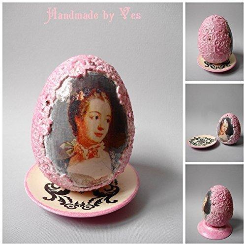 Pink ceramic egg