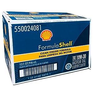 FormulaShell 550024081-12PK SAE 10W-30 Motor Oil - 1 Quart, (Pack of 12)