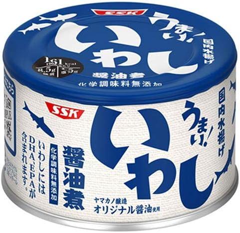 SSK うまい!鰯 醤油煮 150g缶×24個入×(2ケース)