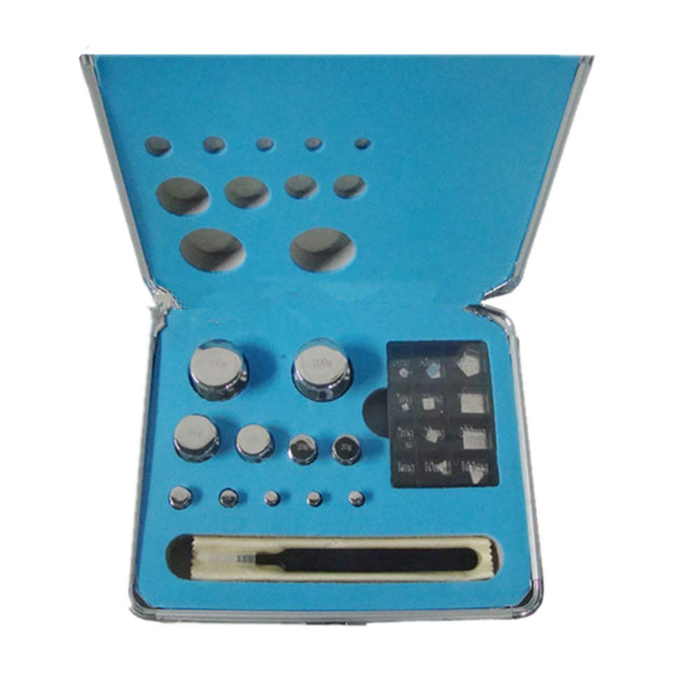 CGOLDENWALL M1 Scale Balance Calibration Weight Set Balance Weight Kit Set  for Digital Balance Scale Jewellery Scale Electronic Lab Scale Scale Accessories (1mg/200g)