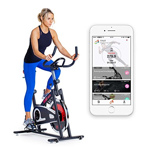 fitbill Home Gym Set: Smart Exercise Bike / AB Trainer /Smart Scale / Free APP ESMARTGYM INC