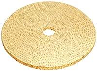 """JacksonLea 47423SP Laminated Sisal Buff, Cotton Cloth Sisal Plys, 10"""" Diameter, 1"""" Arbor Hole"""