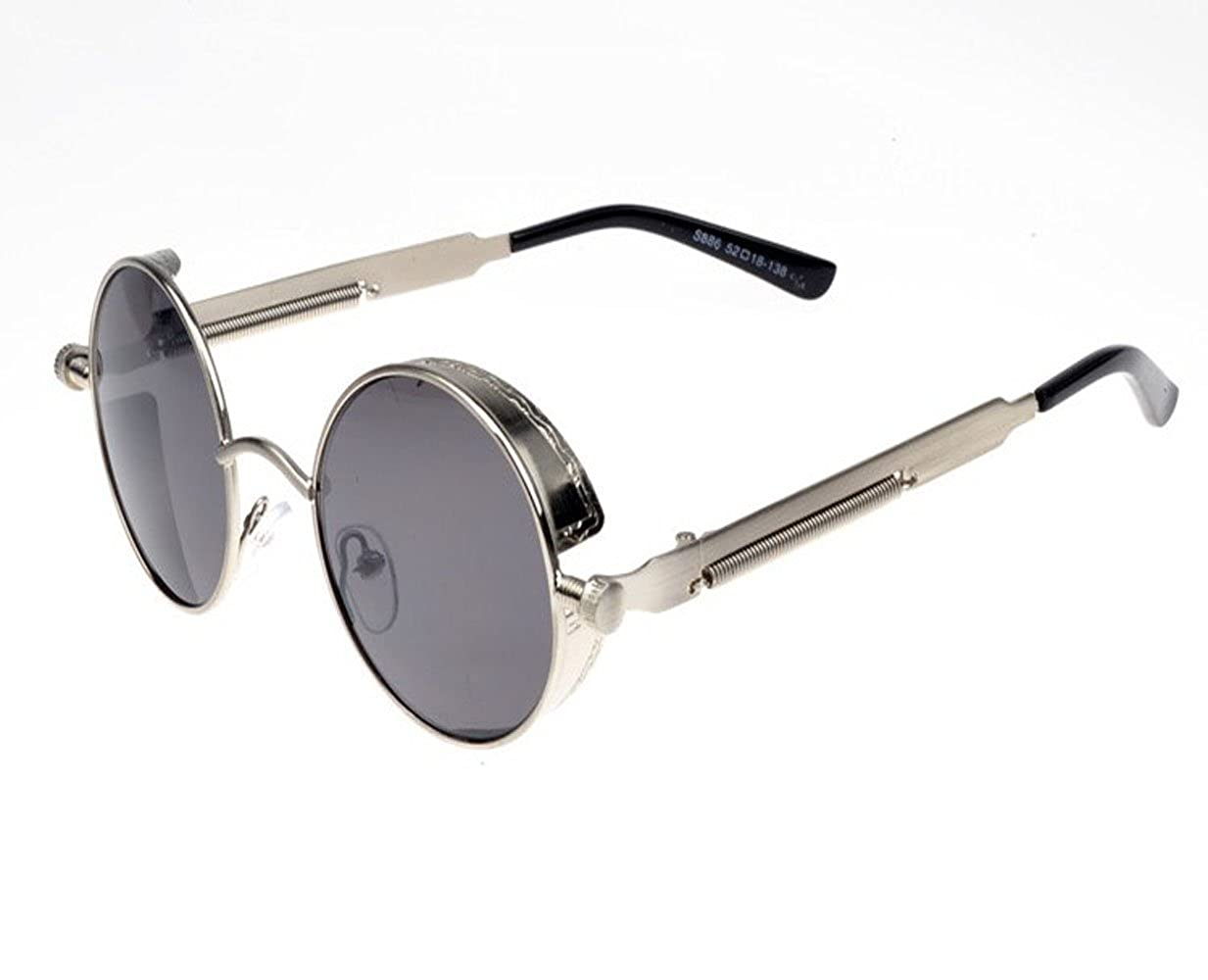 51ce90d3d13 Amazon.com  TELAM Retro Round Sunglasses Men Women Prince Mirror Sunglasses   Shoes