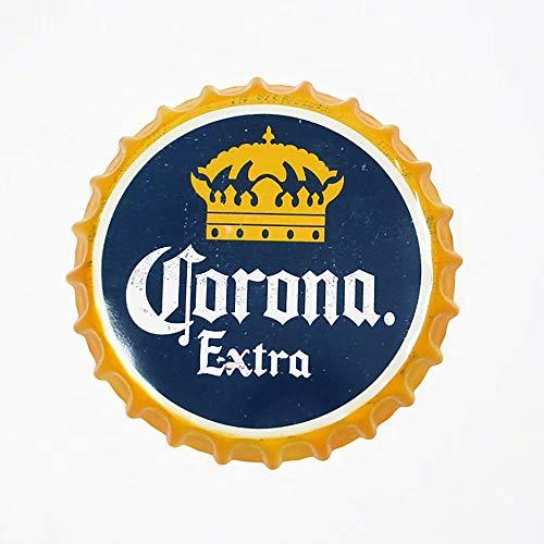 Handser Beer Bottle Cap Decorative Metal Plate Plaque Vintage Pub Wall Art Metal Sign Vintage Home Decor 35 cm