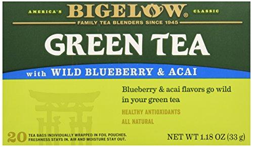 Bigelow Green Tea w/ Blueberry & Acai Tea Bags - 20 ct