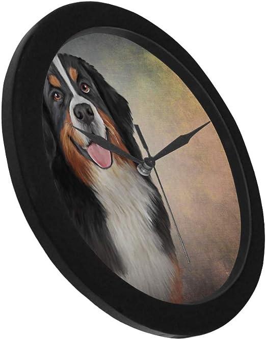 Entlebucher Mt Dog Wood Clock