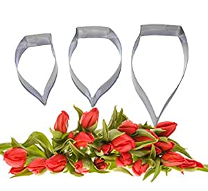 FOUR-C Fondant Tools Callas Cupcake Cutters Cake Flower for Decorating Supplies Color Silver