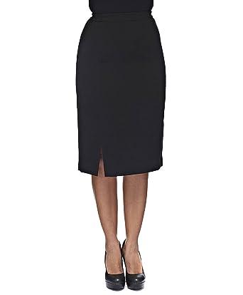 Falda negro en crepé: Amazon.es: Ropa y accesorios