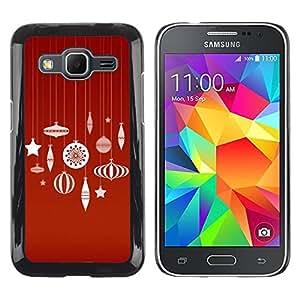 Paccase / SLIM PC / Aliminium Casa Carcasa Funda Case Cover para - Merry Red White Decorations - Samsung Galaxy Core Prime SM-G360