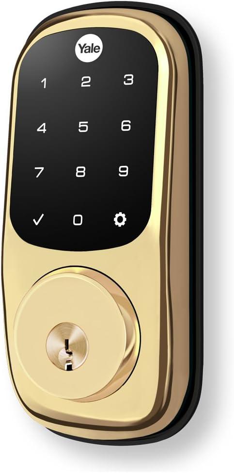 Key-Free Touchscreen with Ridgefield Handleset in Bronze Yale Assure Lock SL