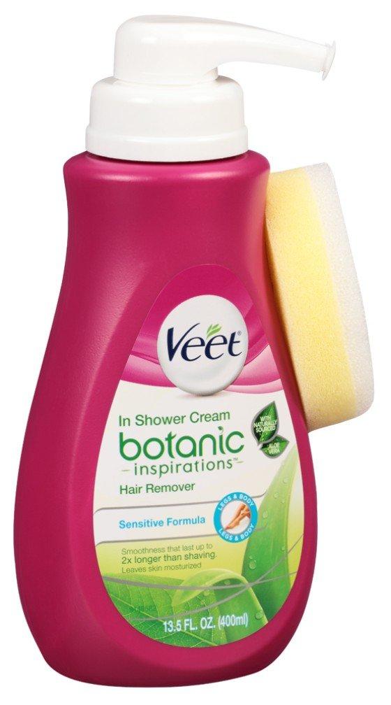 Veet Botanic In Shower Cream Hair Remover 13.5 Ounce Pump (399ml) (6 Pack)