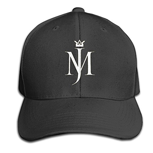 Michael Jackson Logo Men And Women Sport Black Adjustable Cotton Hat Fashion Cap