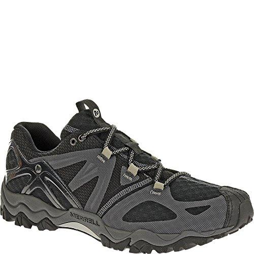 Merrell Air - Merrell Men's Grassbow Air Trail Running Shoe,Black/Silver,7.5 M US