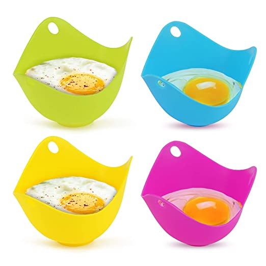 Moldes de silicona para escalfar huevos y escalfadores de huevos 4 ...