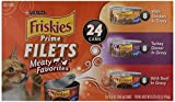 Purina Friskies Prime Filets Meaty Favorites Adult Wet Cat Food Variety Pack – (24) 5.5 Oz. Cans