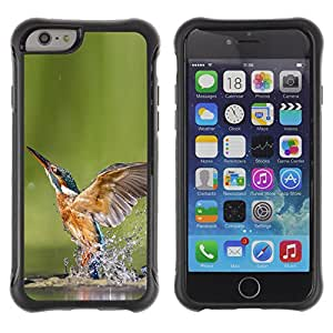 iDesign Rugged Armor Slim Protection Case Cover - Cool Kingfisher In Water - Apple Iphone 6