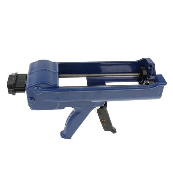 Double-Barrel No-Drip Caulk Gun 400ml// 13oz// 0.1Gallon Dual Cartridges