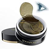 Black Gold Collagen Eye Mask Eye Strips Eye Pads Patches-Useful for Removing Dark Circles and Eye Bag+ Eliminating Edema and Crow's-feet+Anti-Aging+Anti-Wrinkle+Moisturizing (60pcs)