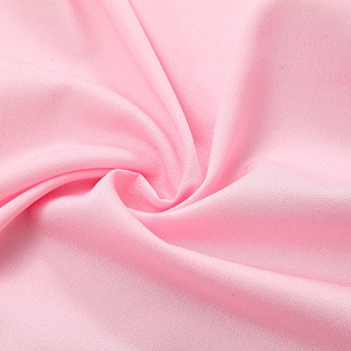 Suppromo 3 Yards High-end Gold Brim 3 Layer Mesh Fluffy Tutu Table Skirt Tulle Tableware Table Cloth For Party,Wedding,Birthday Party&Home Decoration,Table Skirting (L9(ft) H 30in, Pink) by Suppromo (Image #4)