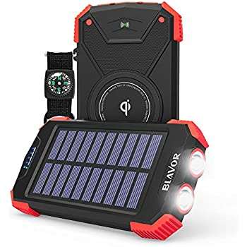 Amazon Com Solar Charger 5000mah Portable Solar Power