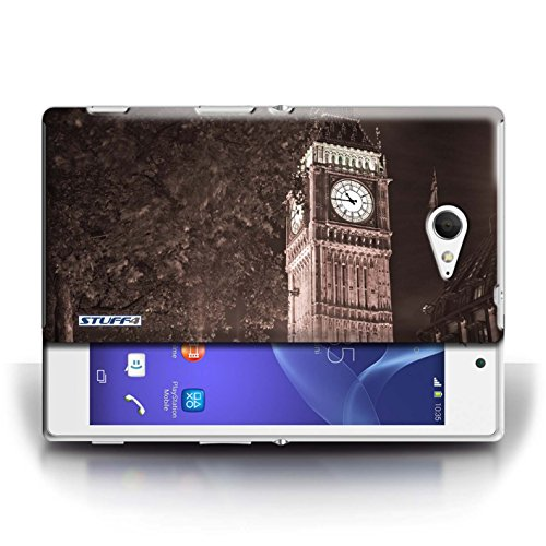 Hülle Case für Sony Xperia M2 / Big Ben Sépia Entwurf / London England Collection