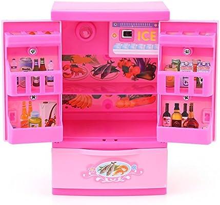 Refrigerador de Cocina Artificial Rosa Mini Frigorífico ...