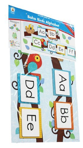 Boho Birds Alphabet Bulletin Board Set (Abc Bulletin Board compare prices)