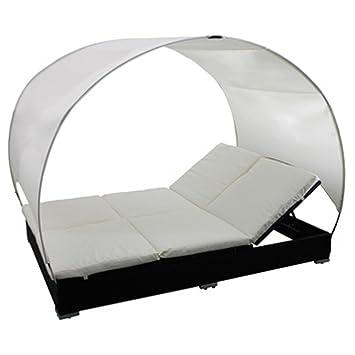 Amazon De Outdoor Bett Doppel Terrasse Lounge Rattan Mit