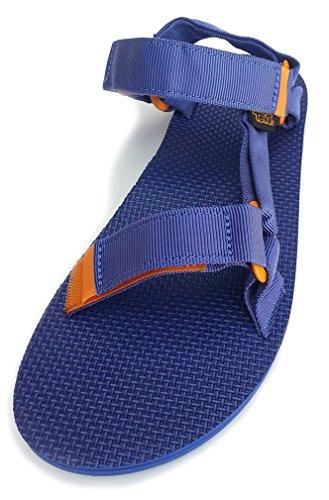 Teva Men's Original Universal Athletic Sandals, Blue Canvas, 8 M (Athletic Canvas Sandals)