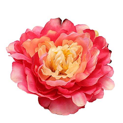 Coral Flowers Brooch - 1