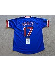 MARK GRACE SIGNED AUTO CHICAGO CUBS BLUE JERSEY JSA AUTOGRAPHED 9c061a25b