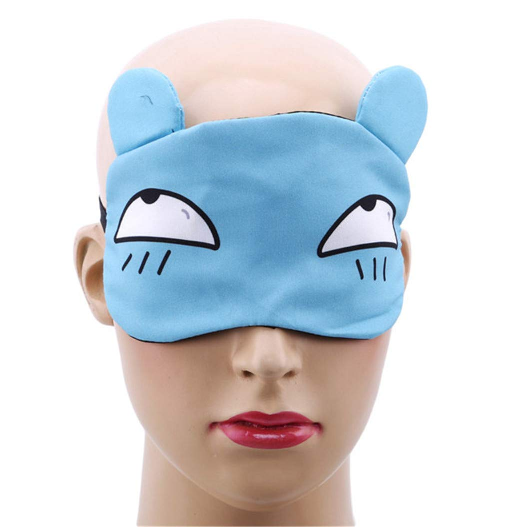 LZIYAN Sleep Masks Cartoon Sleep Eye Mask Soft Cute Eyeshade Eyepatch Travel Sleeping Blindfold Nap Cover,Blue by LZIYAN (Image #3)