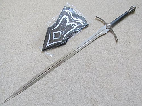 S4851 MOVIE LOTR LORD OF THE RINGS HOBBIT GLAMDRING GANDALF SWORD W/ WALL PLAQUE 46""