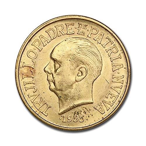 1955 DO Dominican Republic Gold 30 Pesos Trujillo BU In CoinFolio Coin Flip Gold Uncirculated
