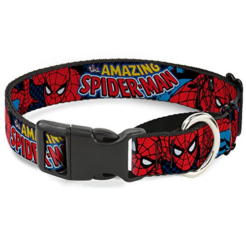 "Buckle-Down ""Amazing Spider-Man"" Martingale Dog Collar, 1"" x 9-15""/Small"