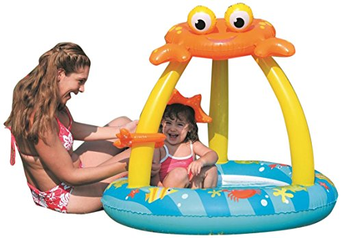 """Pool Central 39"""" Blue and Yellow Inflatable Baby Swimming..."""