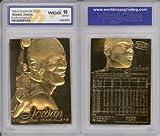 1996 MICHAEL JORDAN FLEER SHOWCASE 23K GOLD CARD - GRADED GEM-MINT 10