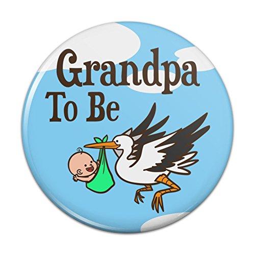 Grandpa Pin - Grandpa To Be Stork Baby Pinback Button Pin Badge - 3
