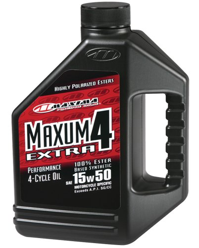Maxima (329128) Extra4 15W-50 Synthetic 4T Motorcycle Engine Oil - 1 Gallon Jug ()